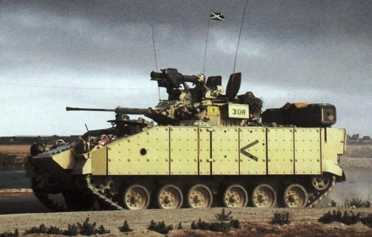 FV510 Warrrior Iraq with Milan firing post