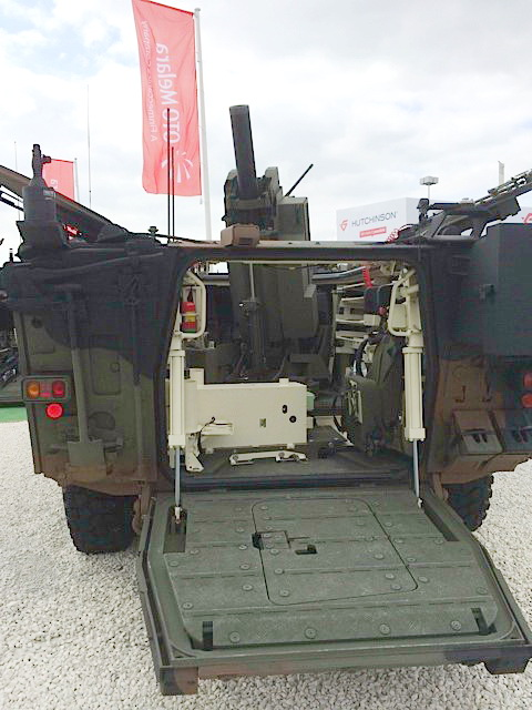 Interior of new Freccia M120mm mortar variant