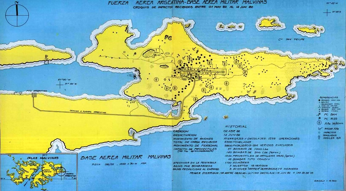 Crater map 1982 Port Stanley 1