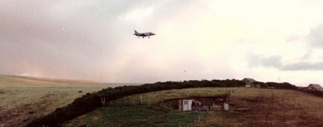 San Carlos FOB Falkland Islands - Harrier and Helicopter Operations 05